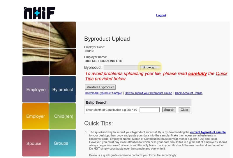 nhif byproduct browse file