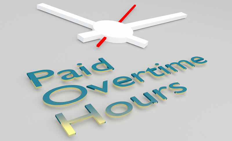 paid overtime hourly rate