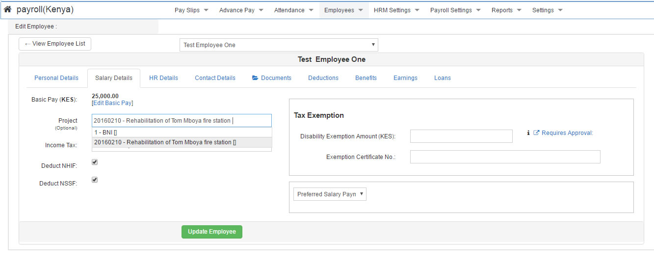 project based payroll