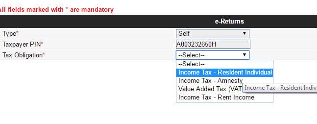 itax file p9 form annual returns individual